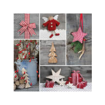 Pabersalvr. Wooden Ornaments 20 tk AW20