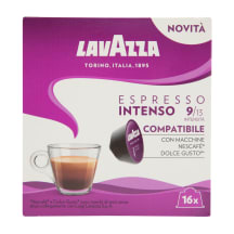 Kafijas kaps. Lavazza Espresso Intenso 16x8g