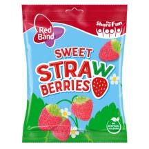Kummikommid Sweet Strawberries Red Band 100g