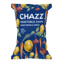 Čipsi Chazz dārzeņu, krējuma/sīpolu garša 75g