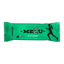 Javainių batonėlis ME2U NUTS&LINSEED, 45 g
