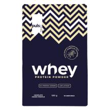 Vanilės skonio išrūgų baltymai PULS, 550 g