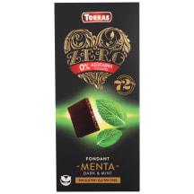 R. šok. Torras Zero 72%kakao/piparm. b/g 100g