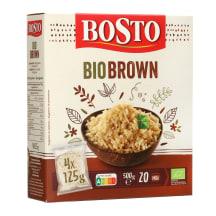 Ekologiški rudieji ryžiai BOSTO, 500 g