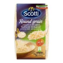 Apvalieji ryžiai RISO SCOTTI ROUND GRAIN, 1kg