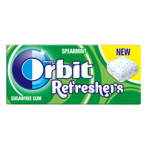 Kramt. guma ORBIT REFRESHERS SPEARMINT, 15,6g