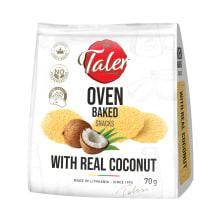 Traškučiai su kokoso drožlėmis TALER, 70 g