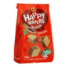 Vafliai su kakavos įdaru HAPPY, 100 g