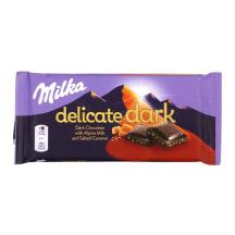 Tumšā šokolāde Milka Delicate sāļā karam. 85g