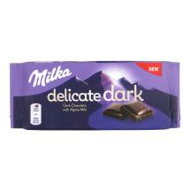 Tumšā šokolāde Milka Delicate Alpu piena 85g
