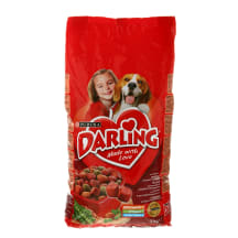 Sausas šunų ėdalas mėsa,darž., DARLING, 3kg