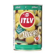 Zaļās olīvas ITLV bez kauliņiem 314ml