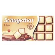 Baltā šokolāde Schogetten Trilogia 100g