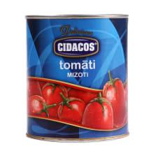 Tomāti Cidacos savā sulā, mizoti 820g/480g