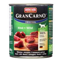 Konservi suņiem Grancarno liellopa 800g