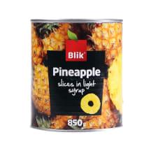 Ananassiviilud kerges siirupis Blik 850g