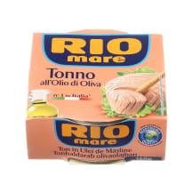 Tunų pjausnys alyv. aliejuje RIO MARE, 160g