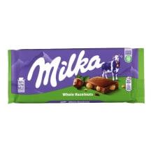 Piimašokolaad tervete pähklitega Milka 100g