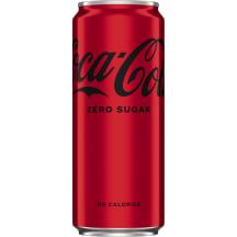 Gāzēts dzēriens coca cola zero 0.33l