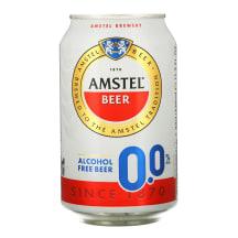 Nealkoholinis šviesusis alus AMSTEL, 0,33 l