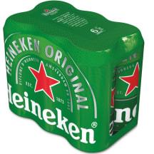 Õlu Heineken 5%vol 6x 0,5l purk