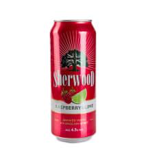 Alus dzēriens Sherwood aveņu laima 4,5% 0,5l