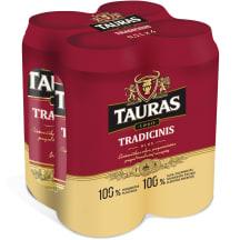 TAURO TRADICINIS alus, 6 %, 4 X 0,5 l