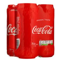Gaiv.gėrimas COCA - COLA, 0,33 l x 4 vnt sk.