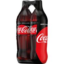 Gāzēts dzēr. Coca-Cola Zero ZIP paka 2x1,5l