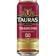 Nealk.TAURO TRADICINIS alus, 0,5 l sk.