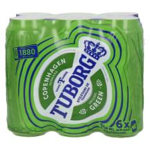 Õlu Tuborg 4,6%vol 0,5l purk 6-pakk