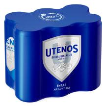 Šviesusis UTENOS alus, 5 %, 6 X 0,5 l sk.
