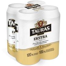 Alus TAURAS EXTRA, 5,2 %, 0,5 l x 4 vnt.