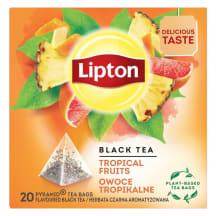 Juodoji arbata LIPTON TROPICAL FRUIT, 20 pak.