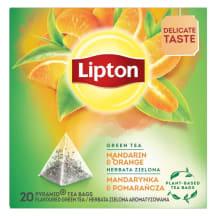 Zaļā tēja Lipton mandarīnu, apelsīnu 20x1,8g