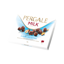 Piimašokolaadikommide assortii Pergale 373g