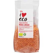 Läätsed punased I Love Eco 400g
