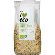 Ekologiški žalieji lęšiai I LOVE ECO, 400g