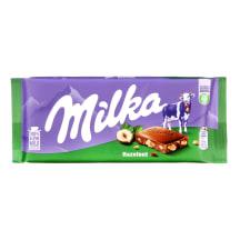 Piena šokolāde Milka ar lazdu riekstiem 100g