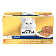 Kassisööt Gourmet gold lihaga (4x85g)