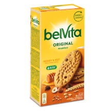 Täisteraküpsised pähkli&meega Belvita 300g