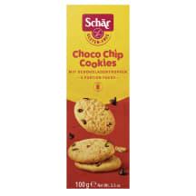 Sausainiai šok.be glitimo CHOCO CHIPS, 100g