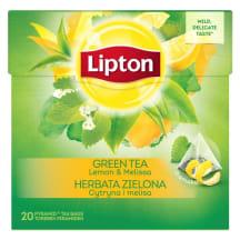 Žal. arbata su citrina ir melisa LIPTON,32g