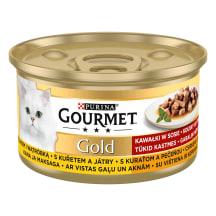 Kačių ėdal.višt.kepen. GOURMET GOLD,85g