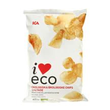EKO sūdyti bulvių traškučiai I LOVE ECO, 175g