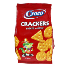Kreekerid juustumaitselised Croco 100g