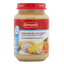 Augļu deserts Semper ar jogurtu 190g