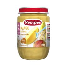 Mangų ir bananų tyrelė SEMPER, 5-6 mėn., 190g