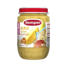 Biezenis Semper mango,banānu no 5m. 190g