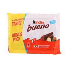 Piimašokolaadivahvel Kinder Bueno 3-Pakk 129g
